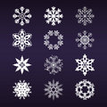 Snowflake Set Royalty Free Stock Photos - 21938398