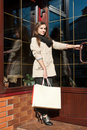 Young Woman With Shopping Bags Royalty Free Stock Image - 21960356