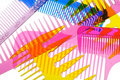 Set Multi-coloured Transparent Combs Stock Photography - 21967312