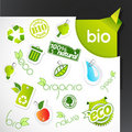 Set Of Green Ecology Icons. Royalty Free Stock Image - 21986226