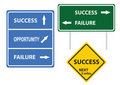 Success Concept Road Sign Royalty Free Stock Photo - 21986545