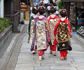 Geisha Group In A Kyoto Street Royalty Free Stock Images - 224589