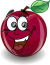 Red Happy Apple,vector Royalty Free Stock Image - 22009486