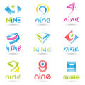 Icons For Number 9 Royalty Free Stock Photo - 22052375