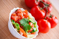 Vegetable Salad,twig Tomatoes Royalty Free Stock Photo - 22068845