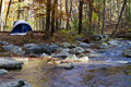 Camping By Mountain Stream Stock Image - 22071371