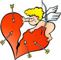 Illustration Of An Angry Amor Angel Boy Royalty Free Stock Image - 22079706