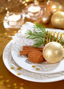 Christmas Table Setting Stock Photography - 22096672