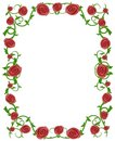 Red Roses Floral Photo Frame Stock Photo - 2211150