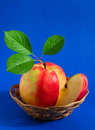 Apple In A Basket Stock Image - 2213521