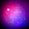 Purple Tech Sphere Royalty Free Stock Photos - 22103008