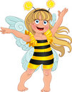Small Girl In Carnival Suit Bee Royalty Free Stock Photos - 22105478
