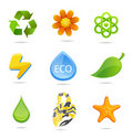 Elegance And Green Nature Symbols Set Stock Images - 22115084