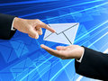 Businessman S Hand Point The Email From Sender Stock Photo - 22120190
