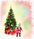 Cheerful Boy In Santa Claus Hat Royalty Free Stock Images - 22124699
