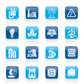 Power, Energy And Electricity Icons Stock Image - 22129361