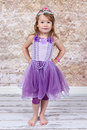 Little Girl Dressed As Princess Royalty Free Stock Image - 22152446
