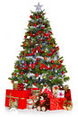 Christmas Tree And Presents Isolated On White Royalty Free Stock Images - 22180109