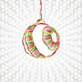 Merry Christmas Toy Ball Xmas Happy New Year Card Royalty Free Stock Photo - 22180545