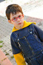 Red Eyewear Young Boy Stock Image - 22189561