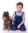 The Child With A Dog Royalty Free Stock Photos - 2229398