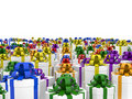 Giftboxes On The Endless Plane Royalty Free Stock Photography - 22211387