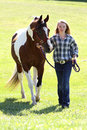 Teen With Horse Royalty Free Stock Photos - 22215358