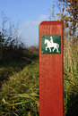Horse Path Sign Royalty Free Stock Photos - 22218918