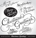 Christmas Hand Lettering Set (vector) Royalty Free Stock Photography - 22224327