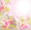 Pink Flowers Background Illustration Royalty Free Stock Image - 22232346