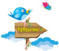 Twitter On A Sign Royalty Free Stock Photo - 22243015