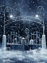 Cemetery Gate With Snow Royalty Free Stock Images - 22256489