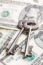 Safe Key With Money Royalty Free Stock Images - 22261859