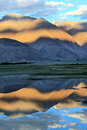 Mountains And Reflection In Water. Sunset Stock Photos - 22268293