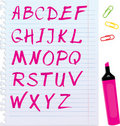 Letters Are Made By Marker Royalty Free Stock Photography - 22278647