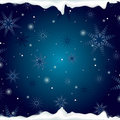Christmas Background With Snowflakes And Ice Stock Image - 22306351