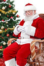 Santa Sleeping In His Char Stock Photography - 22307082