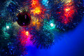 Christmas Various Lights Background Blue Dominant Royalty Free Stock Image - 22310186