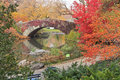 Red Ivy On Central Park Bridge Royalty Free Stock Photos - 22321428