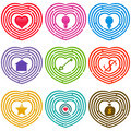 Maze Icons : Targets For Life, Labyrinths Stock Photo - 22327910