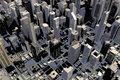 Downtown Area Of City In 3D Royalty Free Stock Image - 22343276