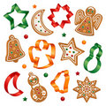 Christmas Cookies And Cookie Cutters Stock Images - 22373284