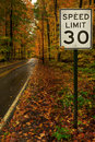 Speed Limit 30 Royalty Free Stock Images - 22379939