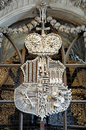 Coat-of-arms Made With Bones In Sedlec Ossuary Royalty Free Stock Images - 22384069