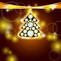 Golden Christmas Tree With Gems Stock Images - 22384924