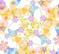 Flower And Butterfly Pattern Stock Images - 2246884