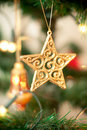 Golden Christmas Decorations Stock Photos - 22405313