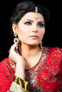 Portrait Of A Beautiful Indian Bride Royalty Free Stock Photo - 22405635