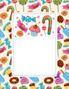 Cartoon Candy Card Royalty Free Stock Images - 22426069