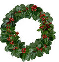 Holly Wreath Royalty Free Stock Photography - 22434687